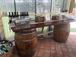 Wine Barrel Bar - Includes 2x Wine Barrels & Bench Top Canning Vale Canning Area Preview