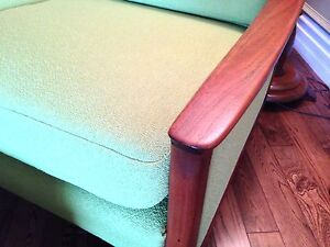 Mid Century R. Huber lounge arm upholstered chair & ottoman London Ontario image 5
