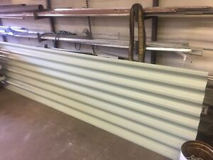 "TWO PIECES of 21ft x 38"" corrugated linear siding 18 gauge"