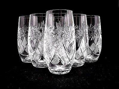 - Russian Crystal Highball Beverage Glasses 10-oz. Vintage Drink-ware Set of 6