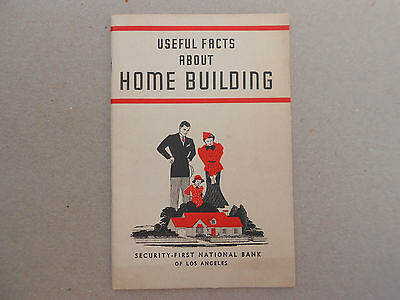 "VTG Book Pamphlet ""Useful Facts About Home Building"" - 1937-1st National Bank"