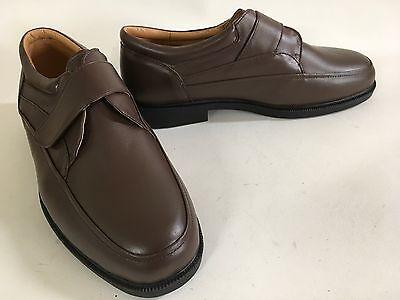 AMBASSADOR Brown Espresso Leather Comfort LOAFERS 9D