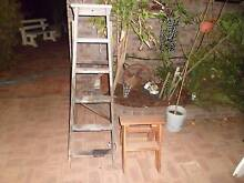 Old  wooden ladders, one step ladder Beckenham Gosnells Area Preview