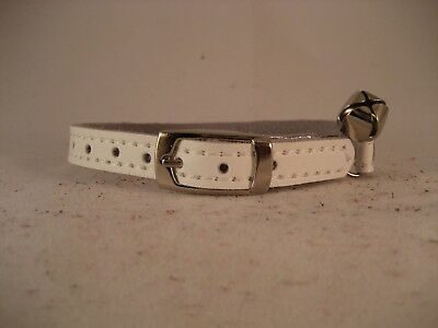 LEATHER WHITE CAT COLLAR
