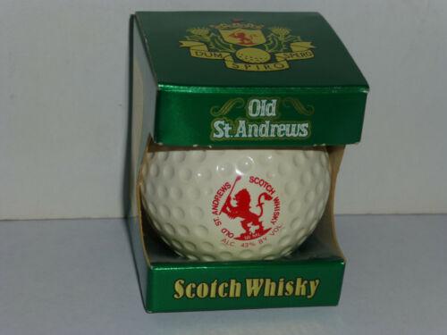 Vintage 1982 GOLF BALL Scotch Whisky Bottle - Old St. Andrews - Miniature 50ml