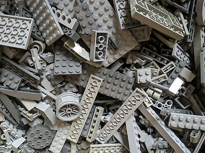 3 Pounds LEGO Bulk Lot Grey Bricks Plates Parts Building mix pieces lbs