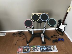 ROCK BAND SET AND GAMES