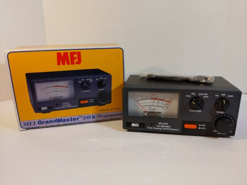 MFJ 872 Grandmaster SWR & Wattmeter, 1.8-200 MHZ, 5 - 20 - & 200 Watt Range