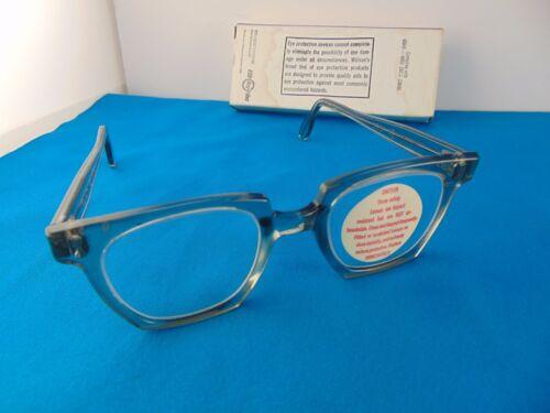 Vintage Willson Industrial Glasses Horn Rim Style 1968 Spec Old Style Retro NIB