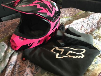 Fox MX Pink & Black Helmet