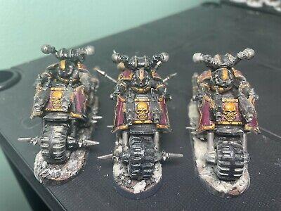 Chaos Space Marines BIKERS Warhammer 40K Black Legion Lot of 3
