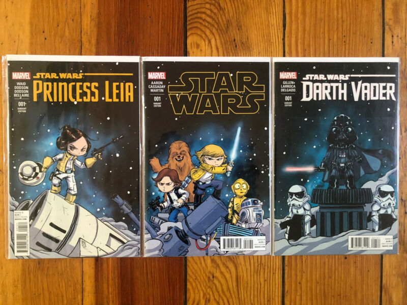 Star Wars Darth Vader Princess Leia #1 Skottie Young Connecting Baby Variants NM