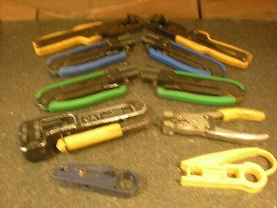 10 Coaxial Cable Crimper Compression Tools More Lot 3