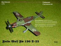 conversion Focke Wulf Fw 190 A-8 Zwilling w//BMW003  1//72 Bird Models Umbausatz