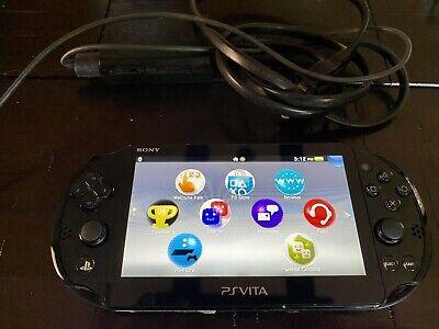 PS Vita Slim PCH-2001 Handheld Console + 14gb + Adaptor Great Working Condition