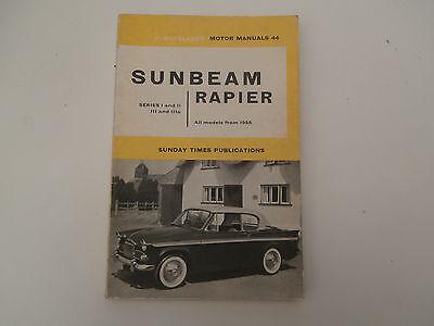 SUNBEAM RAPIER SERIES I , II , III & IIIA .1955.OWNERS REPAIR MANUALOLYSLAGER