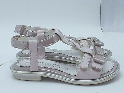 GEOX RESPIRA KIDS GIRLS DRESS T-STRAP RHINESTONE SANDALS SZ 27 Geox Kids Sandals