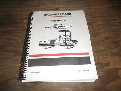 Ingersoll Rand Dd-130 Vibratory Compactor Smooth Drum Roller Part Catalog Manual