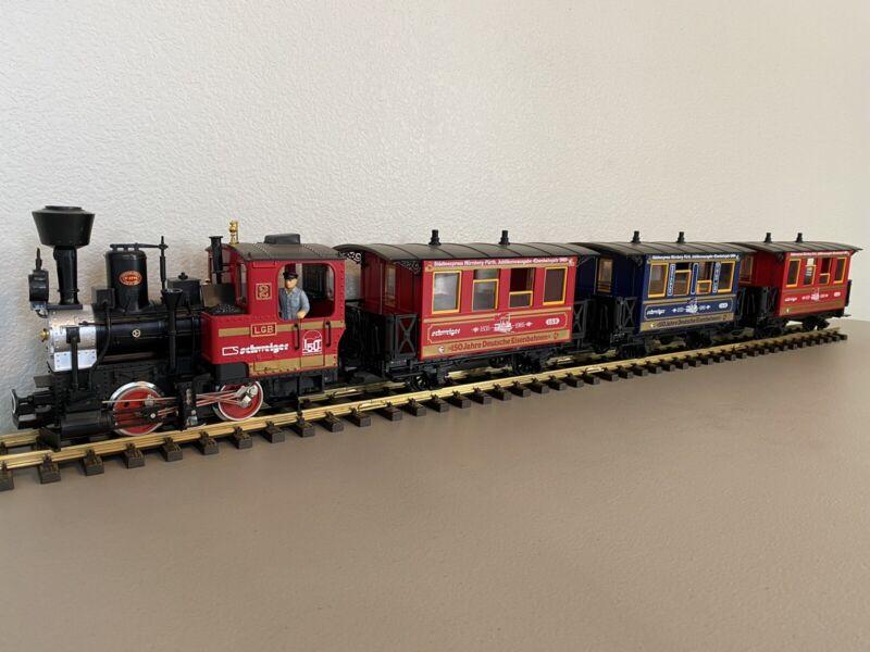 LGB :: 150th Anniversary (1835 -1985) Locomotive & Passenger Car Set
