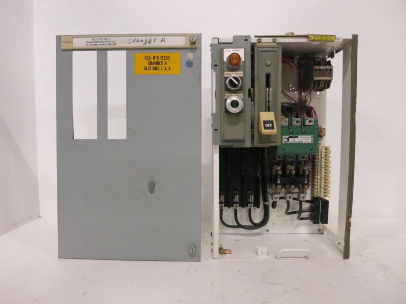 "Siemens Tiastar Furnas System 89 Size 3 Starter 100 Amp Fused 24"" MCC Bucket Sz3"