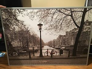 Amsterdam Canvas with frame !