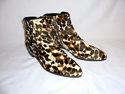 J CREW COLLECTION CALF HAIR ANKLE BOOTS 8 SIENNA ITEM #E1188 NEW