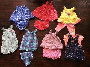 3-6 months baby girl summer clothing