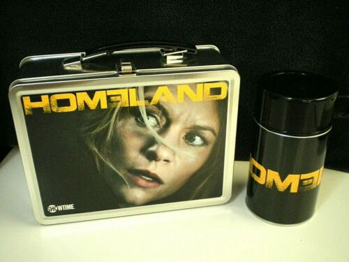 """Rare HOMELAND Showtime TV Series PROMOTIONAL METAL LUNCHBOX & Matching """"Thermos"""""""