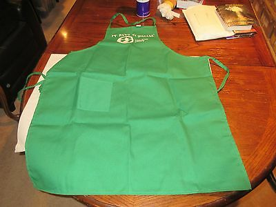 Lottery Apron  New Jersey  New   Old Inventory  Vintage  Green Canvas Bbq Style