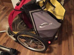Bike bicycle trailer carrier croozer 737 stroller jogger
