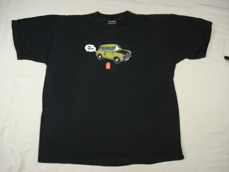 Vintage MR. BEAN MINI CAR SINGLE STITCH T Shirt ROWAN ATKINSON PBS KCTS9 USA XL
