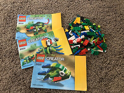 Leg Creator 3 in 1 Rainforest Animals 31031 w/ instructions, Complete, Retired