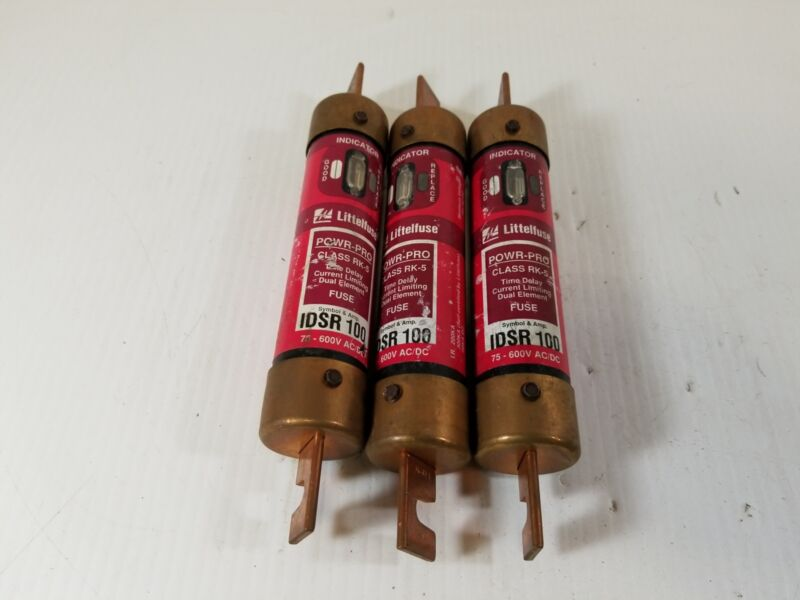 Littelfuse IDSR 100 Powr-Pro Center Tag RK5 Fuse 100A (Lot of 3)