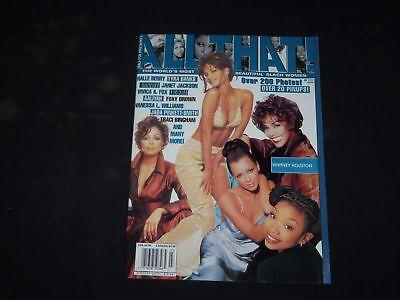 1998 All That  Magazine   Halle Berry  Tyra Banks  Whitney Houston Cover   B 289