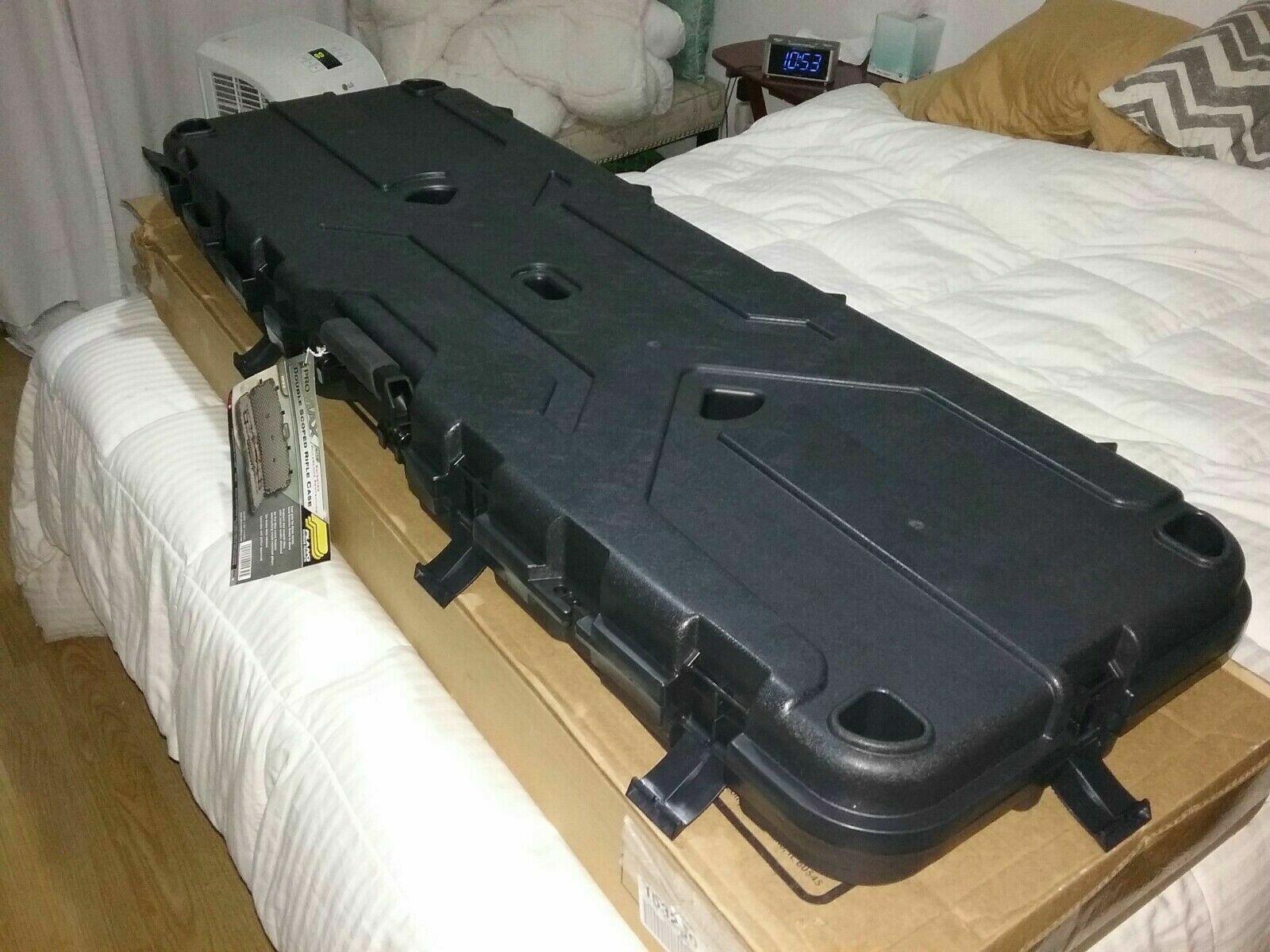 NEW Plano Pro Max Double Scoped Rifle Pistol Bows Gun Case A