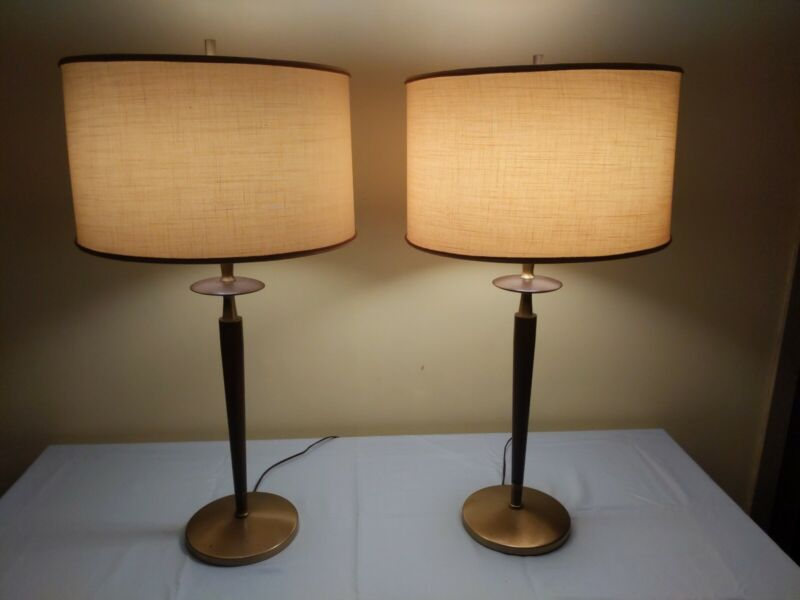 Vintage Danish Mid-Century Modern REMBRANDT Torchiere Table Lamp ~ PAIR