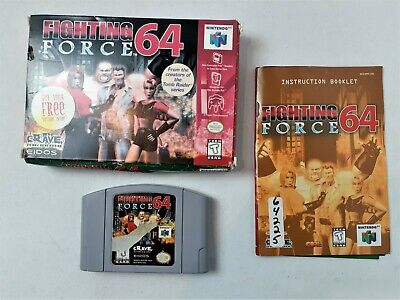 Fighting Force 64 Nintendo 64 Complete & TESTED N64 Authentic 1997 with Manual