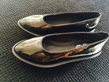 Cheap Monday Patent Flatform Shoes - Black / AU 6 Bethania Logan Area Preview