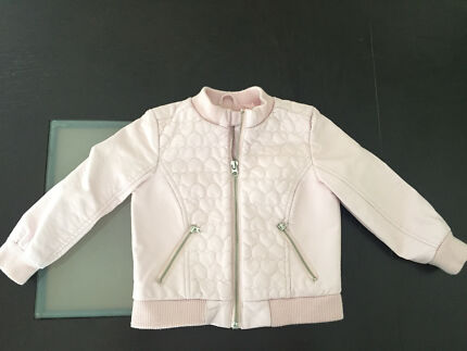 Casual faux leather bomber jacket - Size 2