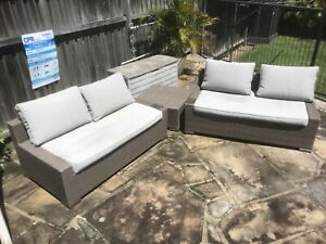 Outdoor lounge setting Brown