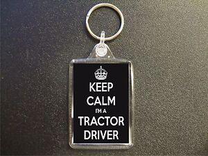 KEEP CALM I'M A TRACTOR DRIVER KEYRING GIFT BAG TAG BIRTHDAY GIFT