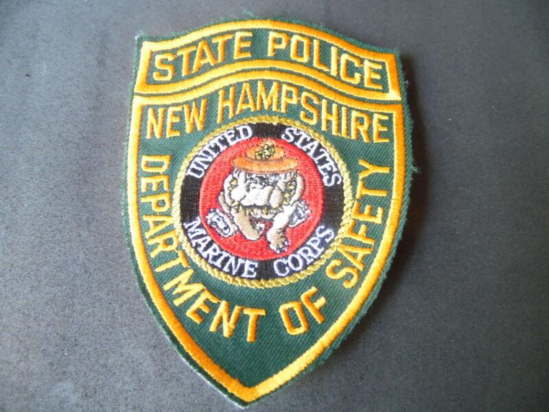 New Hampshire State Police US Marine novelty patch USMC