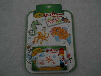 Crayola Green Dry Erase Board And 6 Broad Line Washable Markers Set