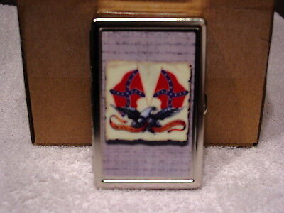 EAGLE FLAGS CIGARETTE CASE CREDIT CARD ID AND MONEY HOLDER WALLET Credit Card Cigarette Case Wallet