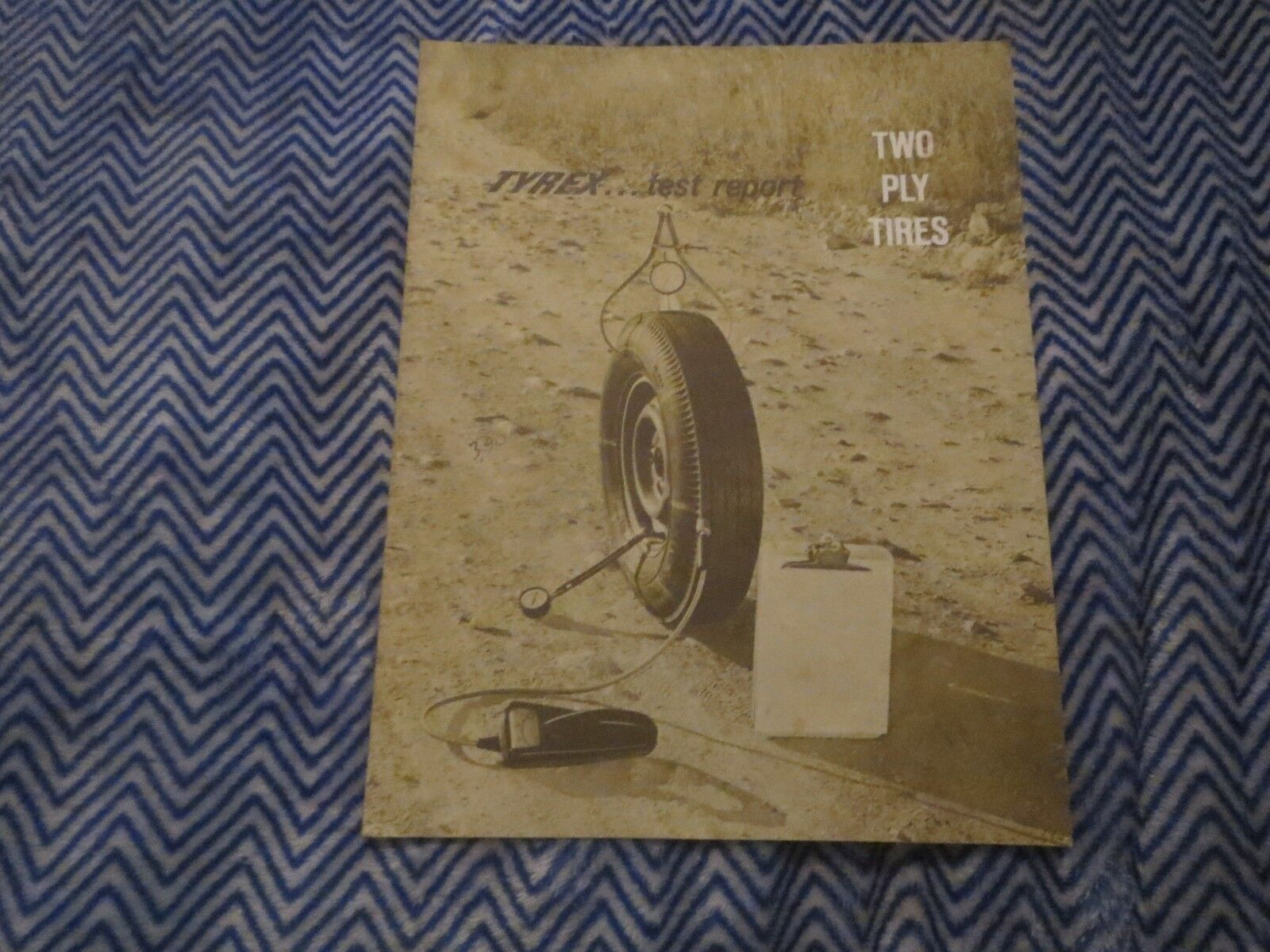 1962 TYREX TEST REPORT TWO PLY TIRES ROAD TEST REPORT ON CORVAIR AND FALCON