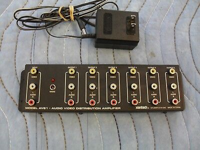Xantech 6 Way A/V Distribution Amplifier for sale  North Reading