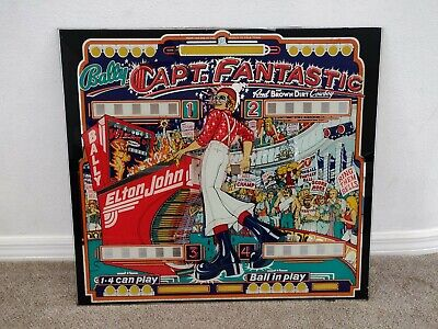 Vintage Authentic Bally Captain Fantastic, Elton John Pinball Backglass