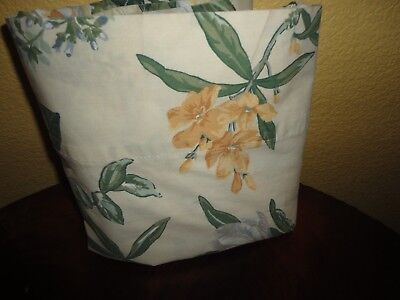VINTAGE WESTPOINT QUAKER HILL MAGNOLIA GREEN GOLD CREAM FLORAL TWIN FLAT SHEET for sale  Peoria