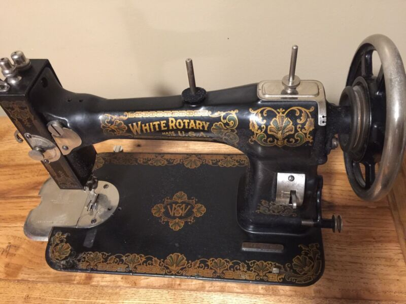 white treadle sewing machine