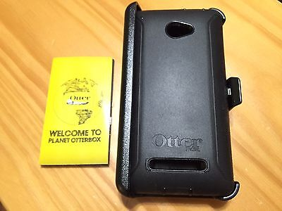Otterbox Defender Series Case W Clip For Htc Windows 8X Phone   Black